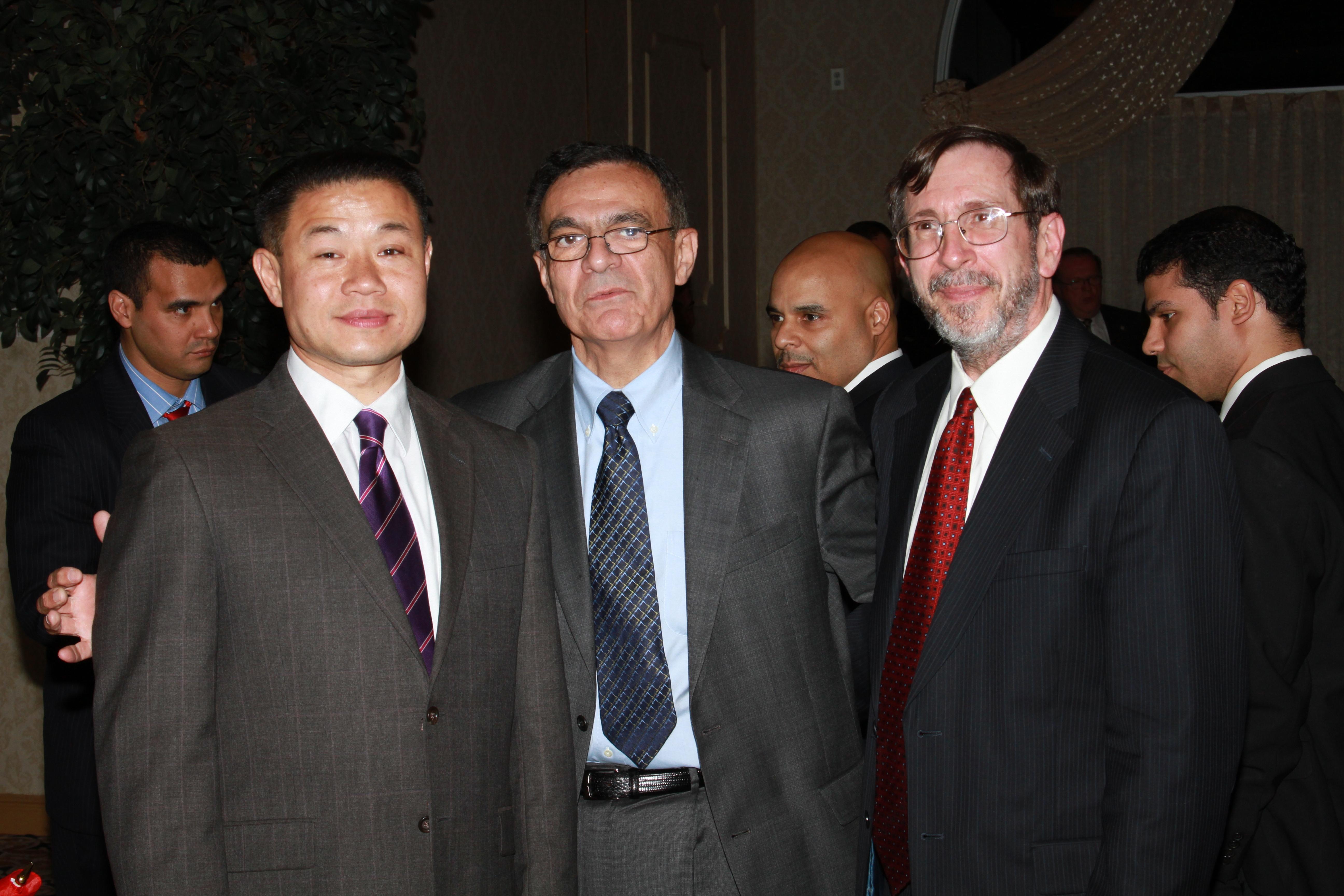 John Liu Comptroller (left) Dr. Antonio Perez, Dr. Vinton Thompson