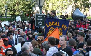 Unions descend onto Foley Square