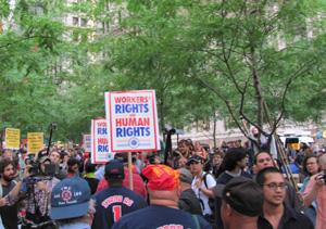 TWU members welcomed by OWS