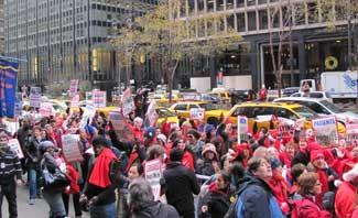 NY nurses joined by Boston, Chicago and D.C. nurses