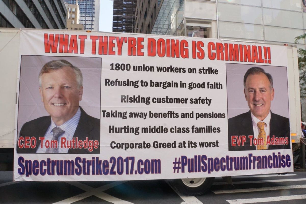 Monday 3pm Unions Support IBEW's Strike Against Spectrum