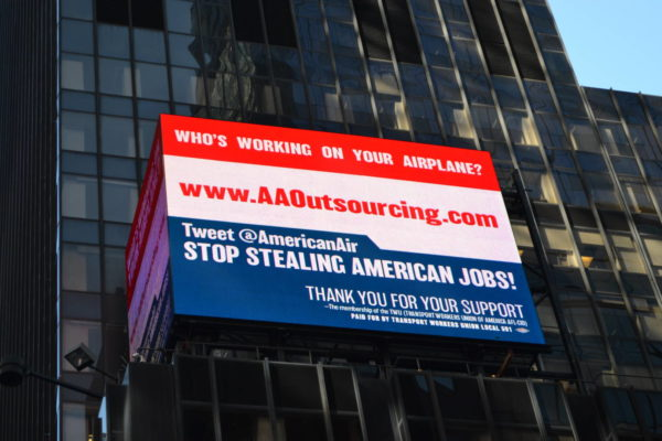 TWU Locals Hold Massive Demonstration Against American Airlines' Outsourcing