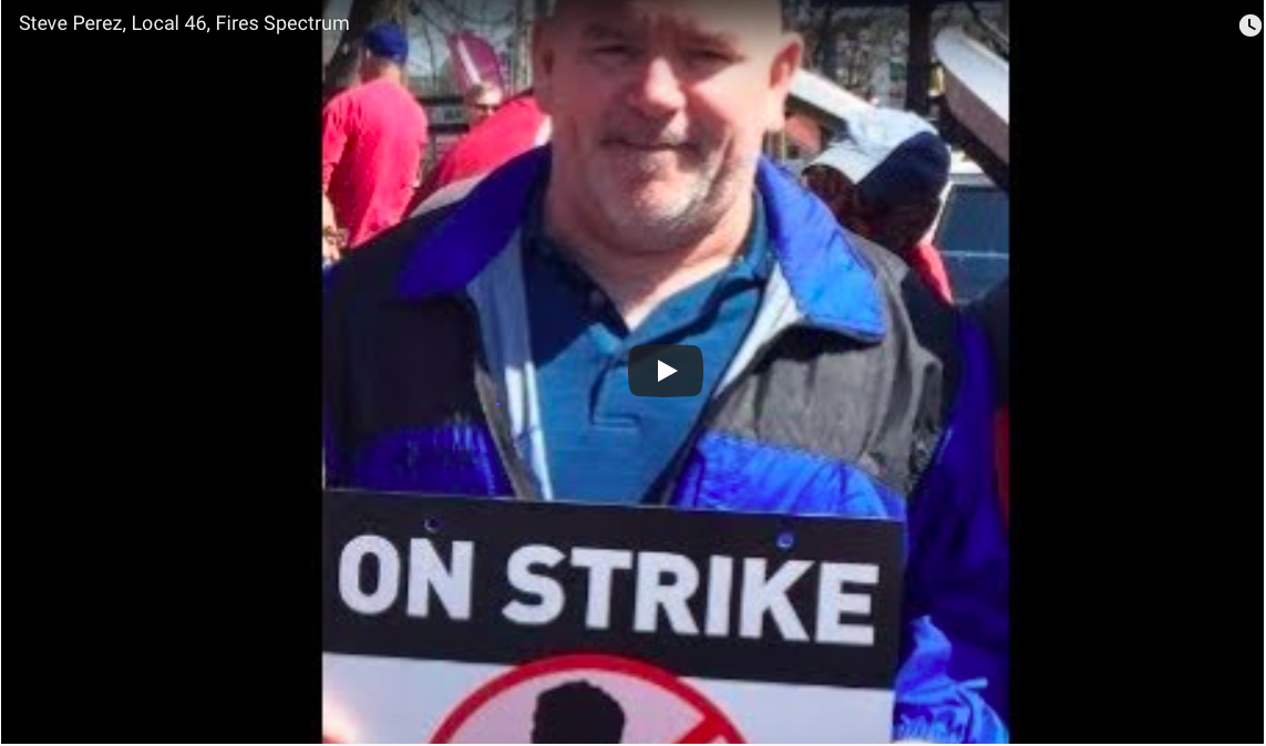 Local 46 Ironworker Fires Charter/Spectrum – Watch it!