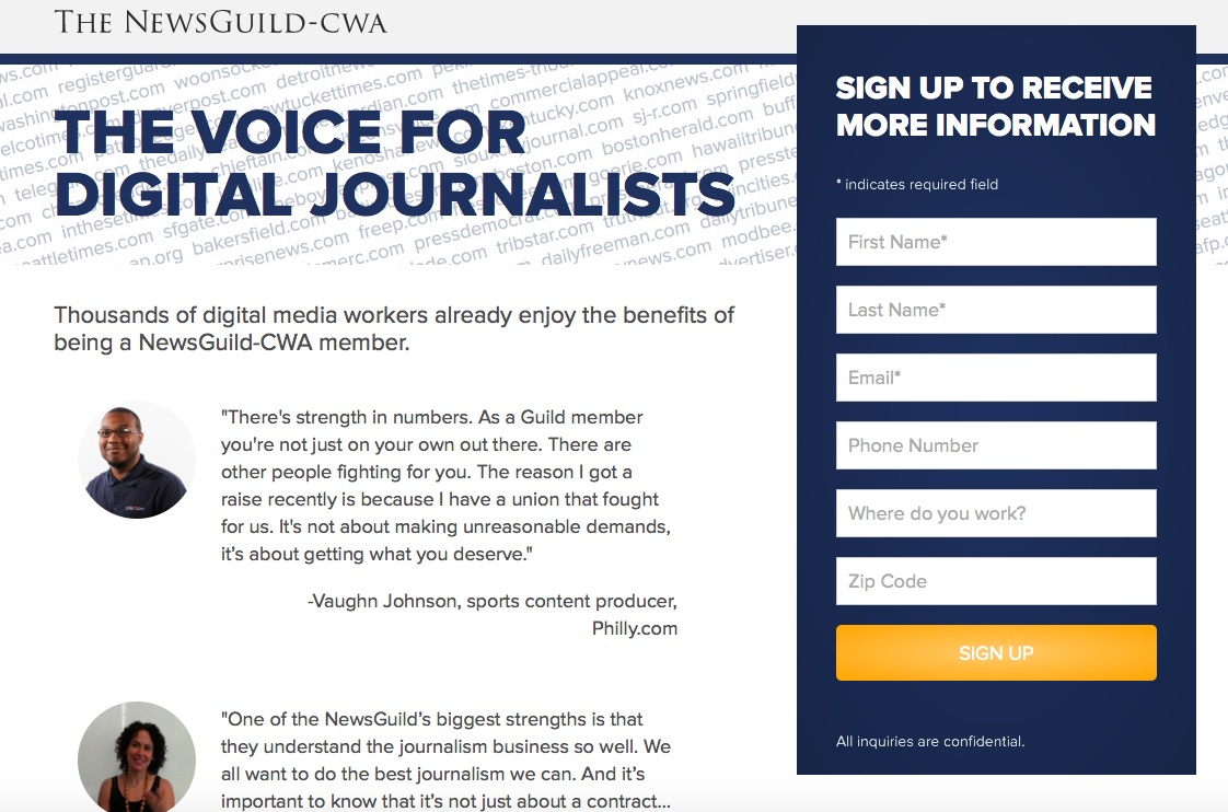NewsGuild Organizes L.A. Times