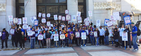 Oakland City Workers' Strike Continues for Third Day