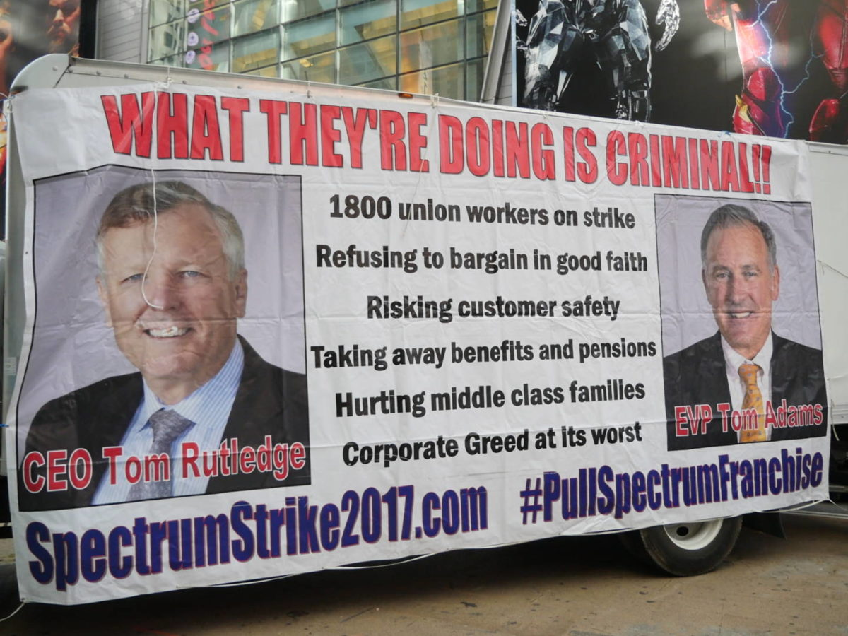 Listen Now! Spectrum Strike; GOP Tax Swindle; REBNY and More!