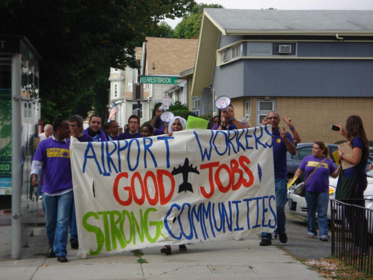 SEIU Workers Strike Boston Airport