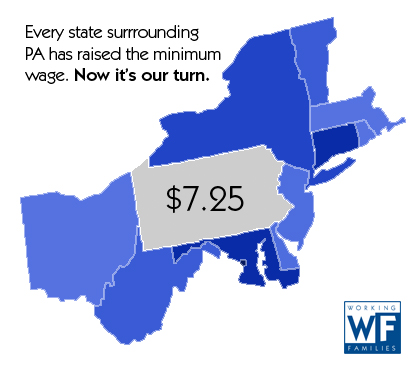 Pennsylvania Minimum Wage Likely to Stay Lowest in Northeast
