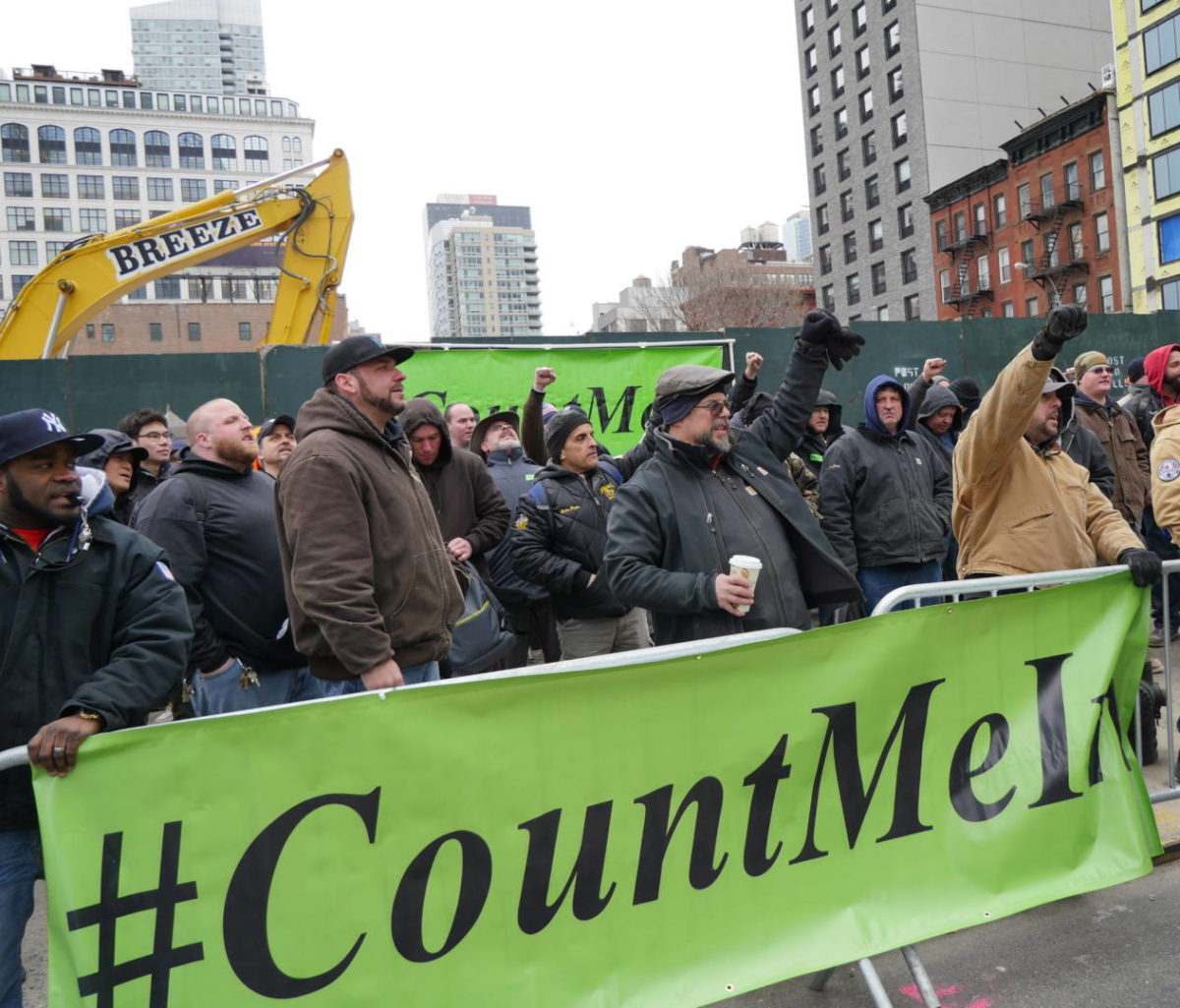 Slush Can't Stop Solidarity at Hudson Yards