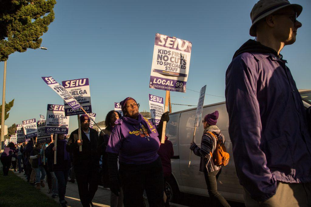 L.A. School Workers Begin Strike-Authorization Vote