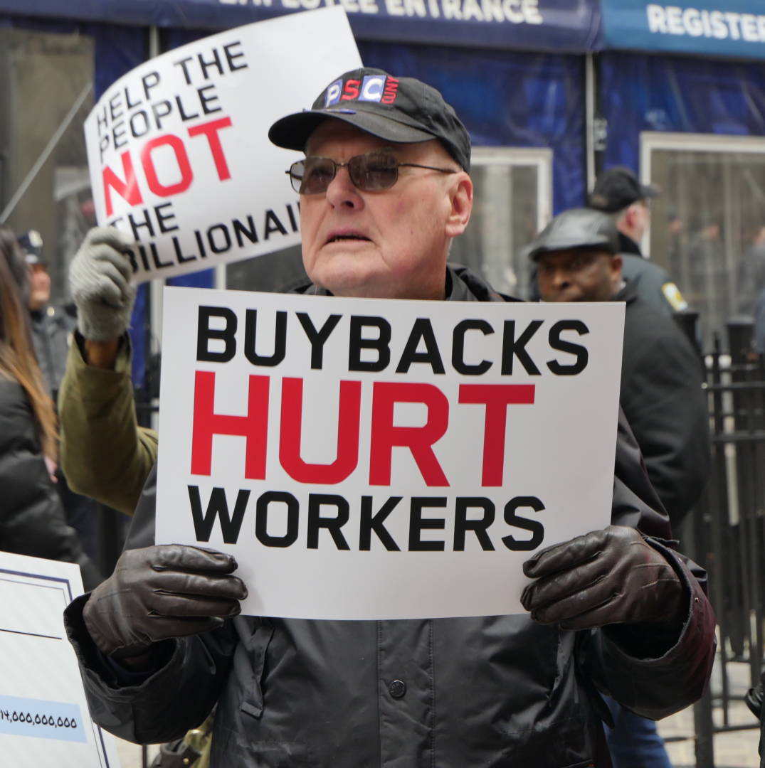 NY Workers to Albany: Tax Stock Buybacks Now!