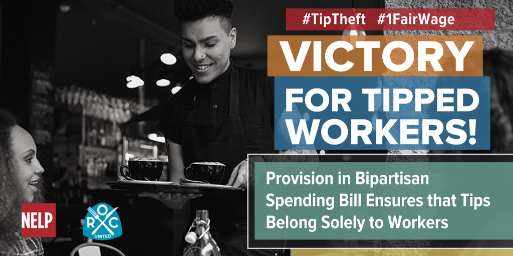 Federal Budget Bill Ensures Tips Belong to Workers