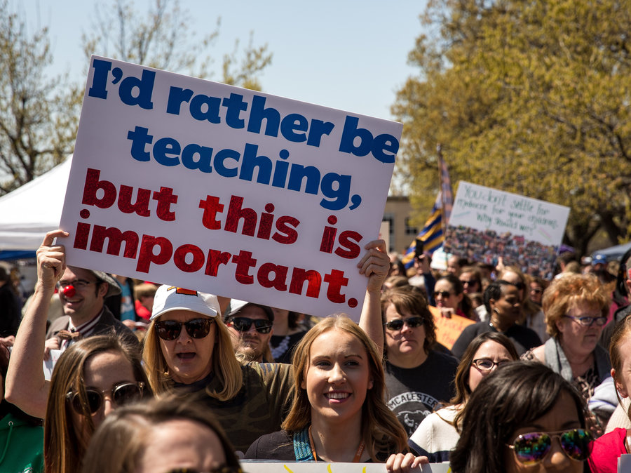 Oklahoma Teachers End Walkout—But Not Completely