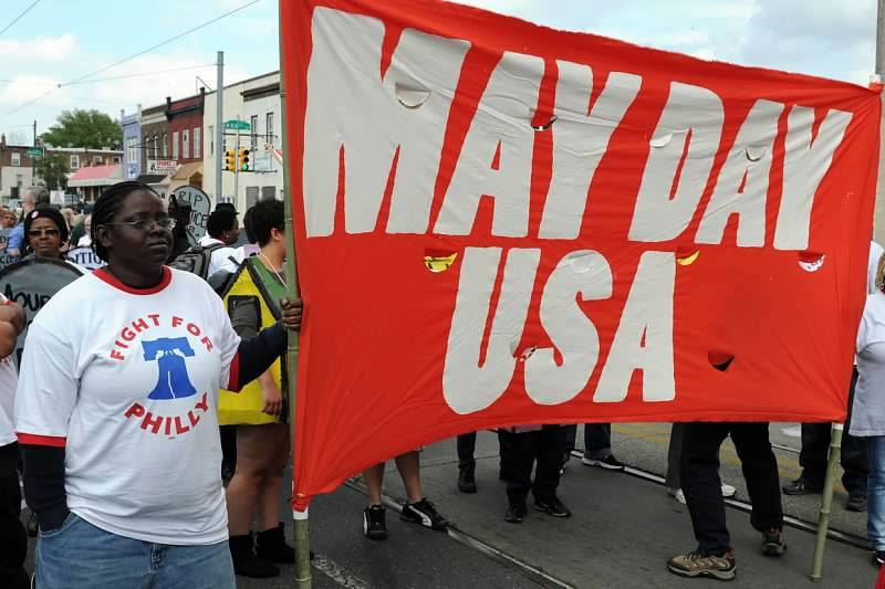 Unions Participate in May Day Rally