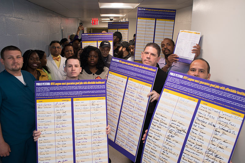 1199 SEIU Delivers Petition To NYU; Demands Fairness In New Contract