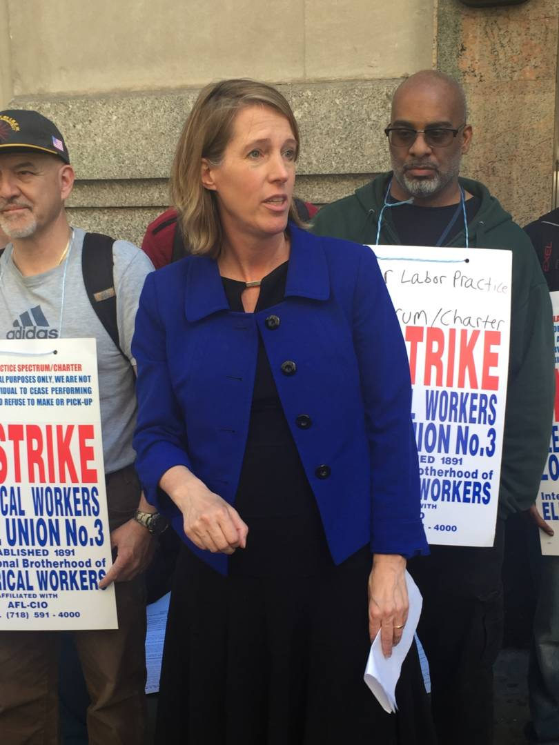 Teachout Stands With Striking Spectrum Workers; Denounces Corporate Union-Busting