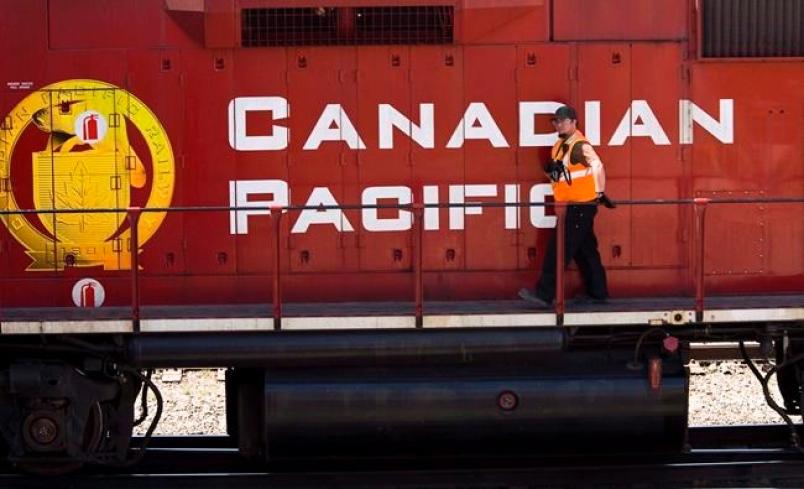 Canadian Pacific Rail Train Operators on Strike