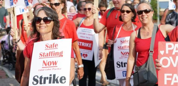Vermont Nurses' Strike Sought Raise for Nonunion Coworkers