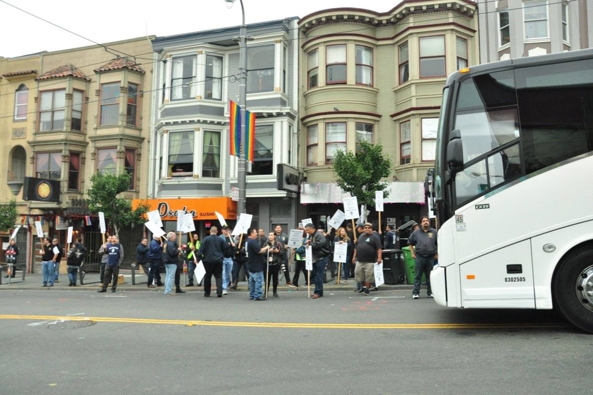 S.F. Tech-Shuttle Companies Hire Scab Drivers—Before Strike Vote