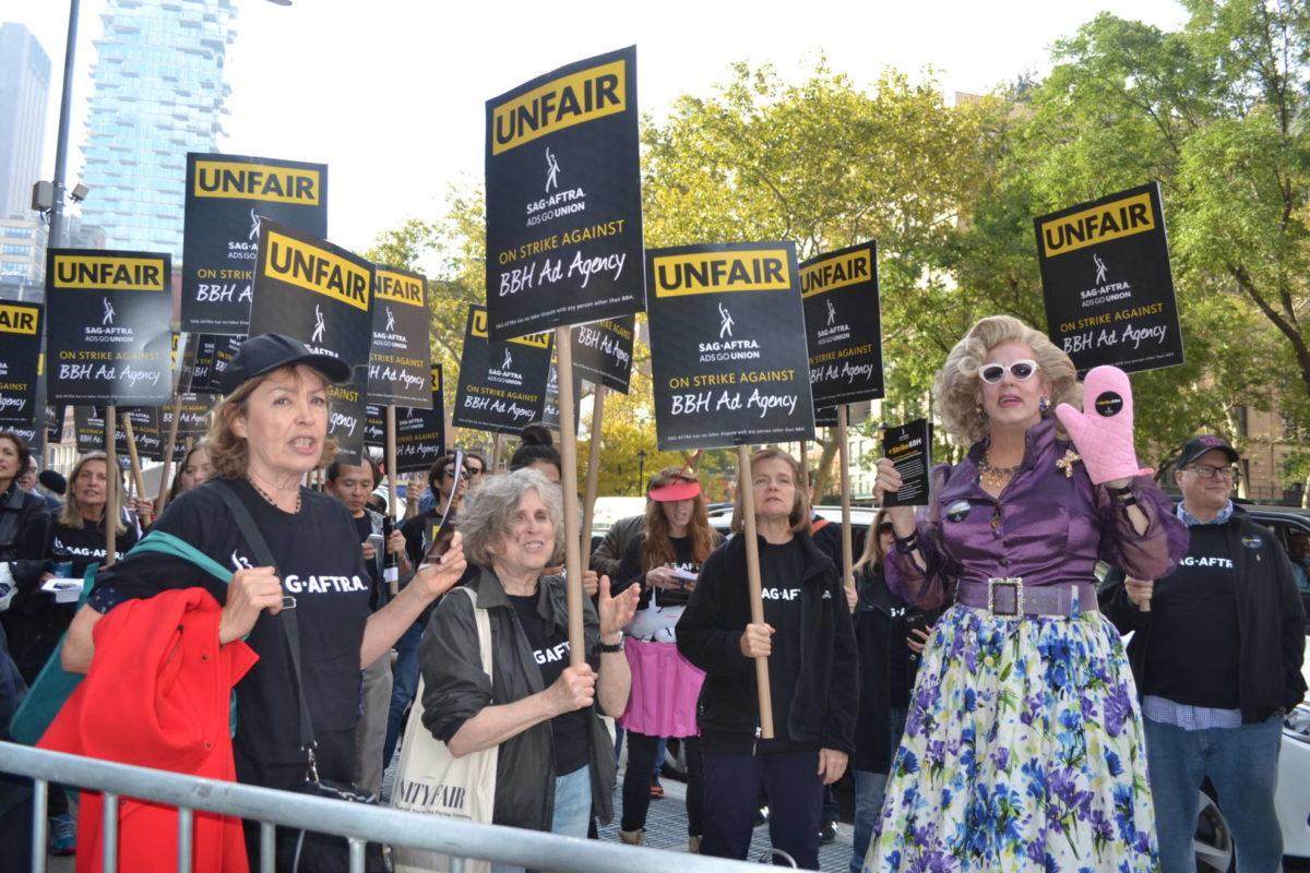SAG-AFTRA Rallies Against Bartle Bogle Hegarty