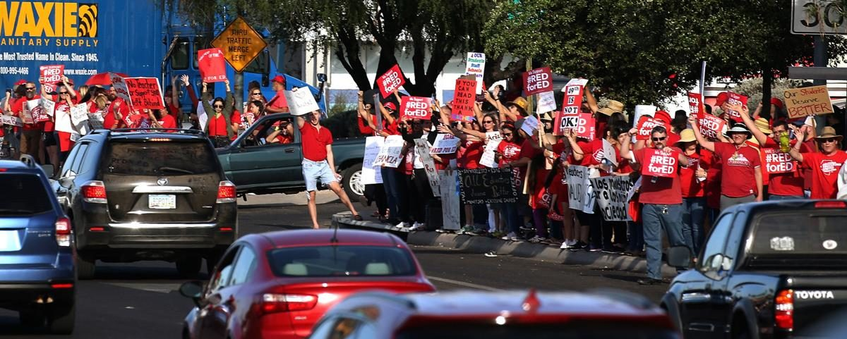 Arizona Teachers Slam Bill That Could Ban '#RedForEd' Shirts