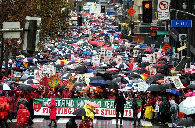 AFT President Randi Weingarten Joins Los Angeles Teachers Strike