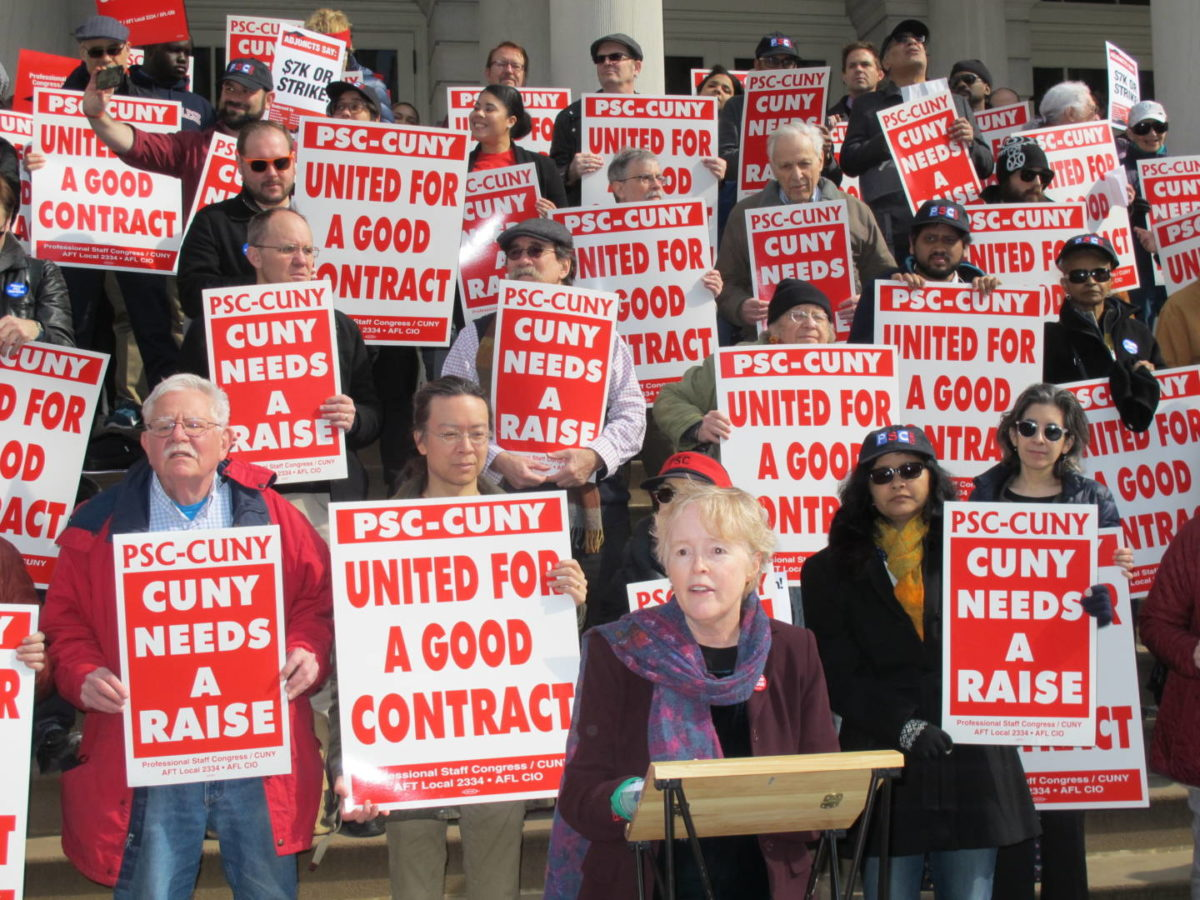"CUNY Professors Rally; Adjuncts Demand ""$7K Or Strike!"""