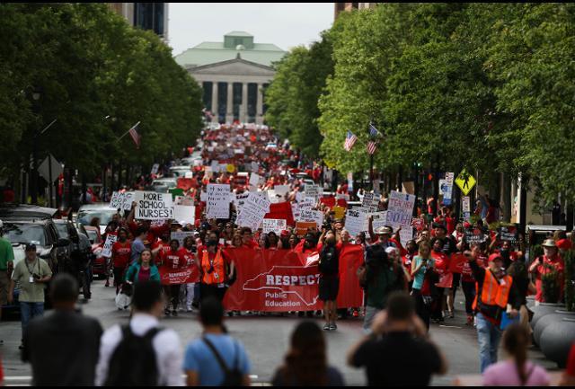 South Carolina Teachers March in State Capital