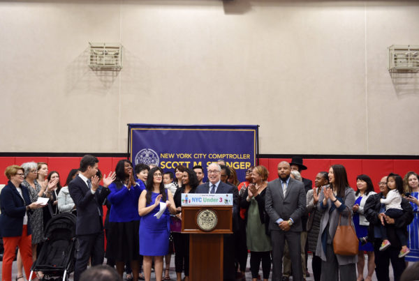 "Comptroller Stringer's  ""NYC Under 3"" Child Care Proposal Gains Broad Support"
