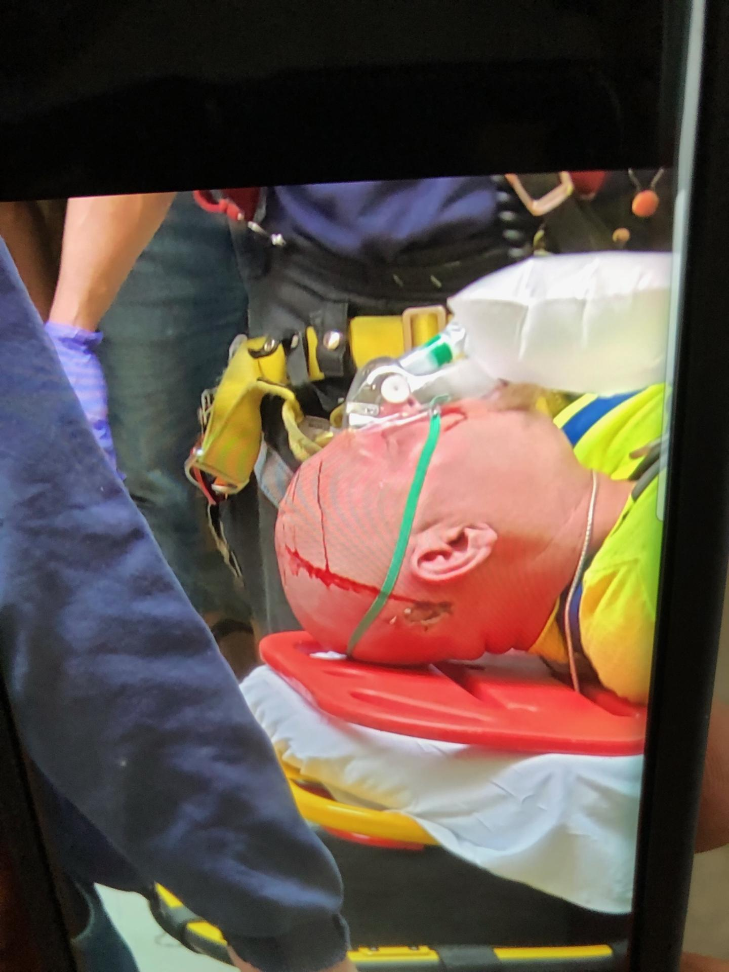Electrician Carried Off On Stretcher In Chelsea