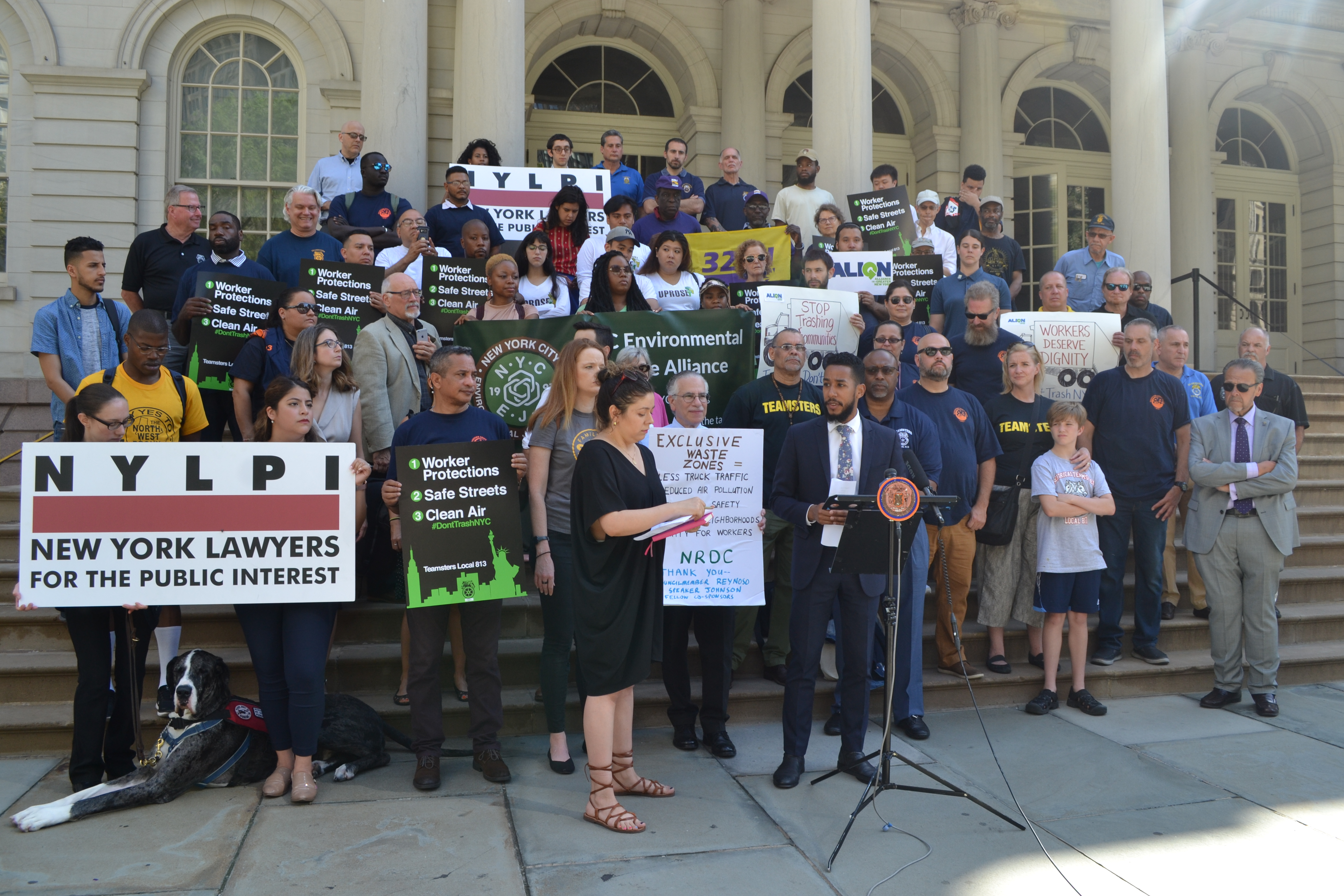 Labor/Environmental Coalition Backs Commercial Waste Zone System
