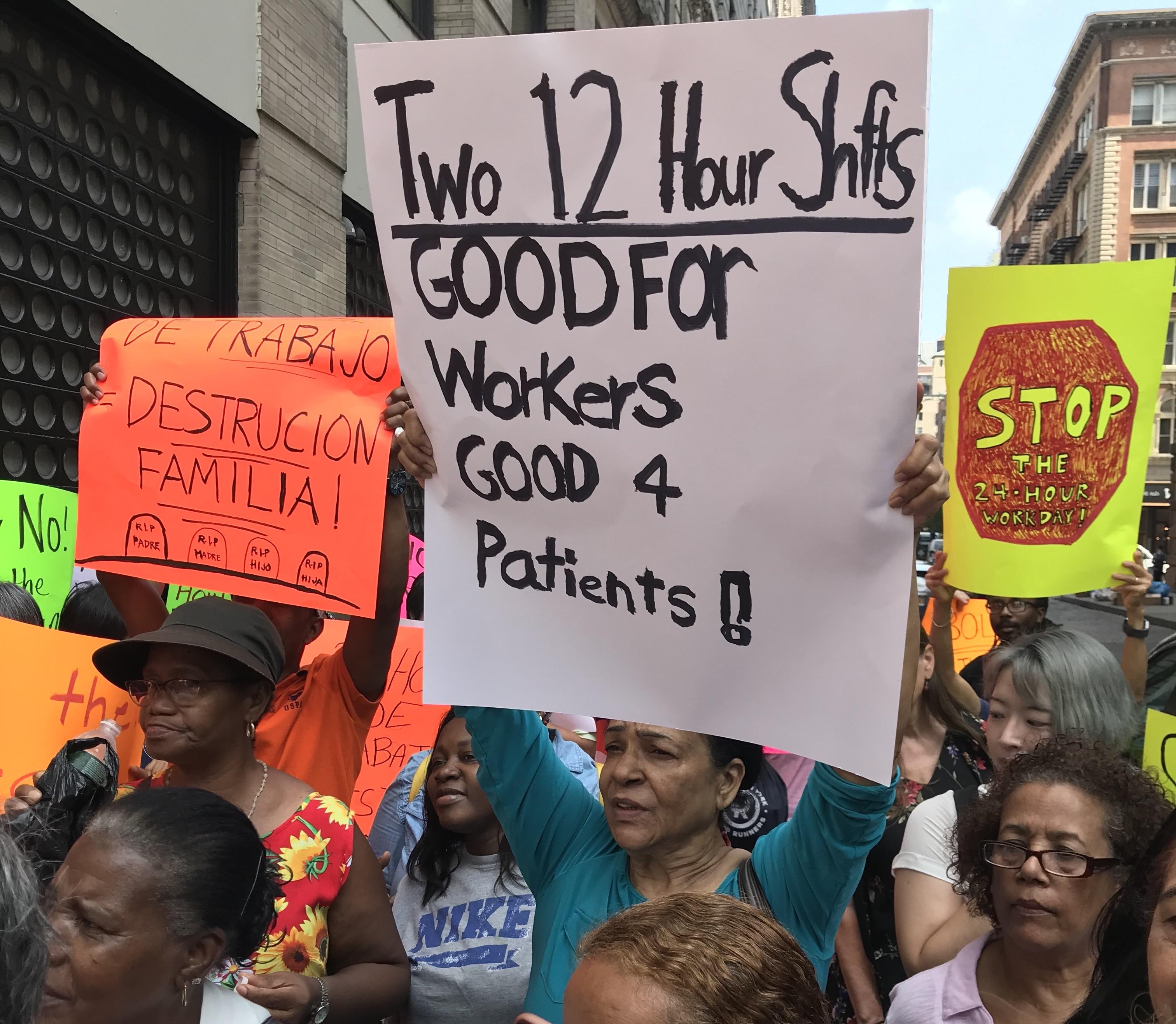 Health Aides Hail Bill to Ban 24-Hour Shifts