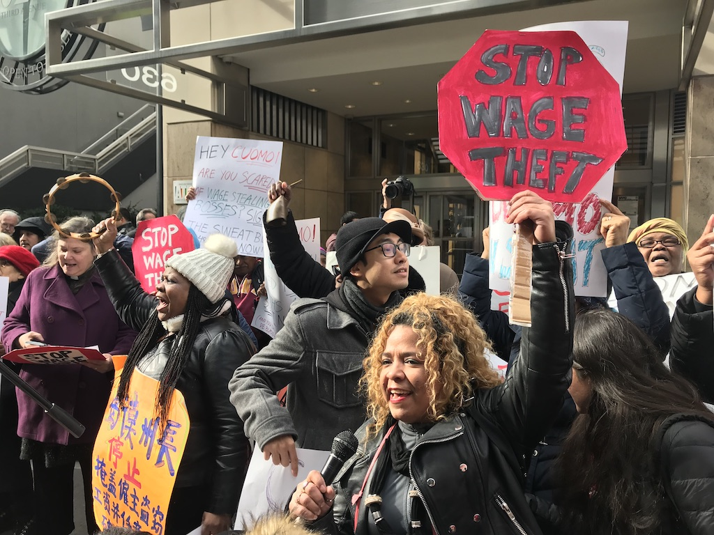 Protesters Rap Cuomo for Inaction on Wage-Theft Bill