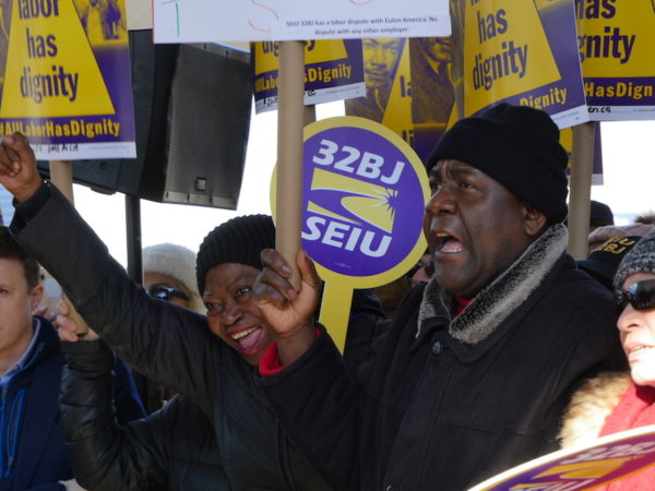 Uninsured Airport Workers Pin Hopes on Legislators Returning to Albany