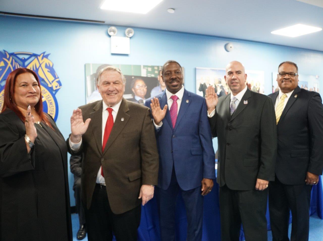 Teamsters Local 237 Executive Board Sworn In