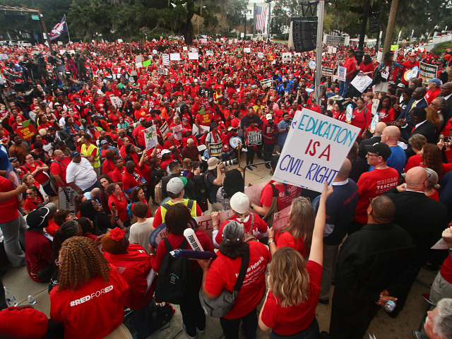 Florida Threatens to Fire Teachers Who Take Day Off for Rally