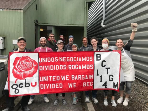 Workers at Grand Central Bakery in Portland, Ore. Join Local 114