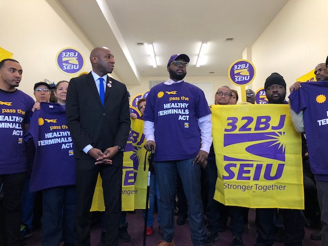 Frontline Airport Workers Intensify Push for Healthy Terminals Act in Face of Coronavirus Fears