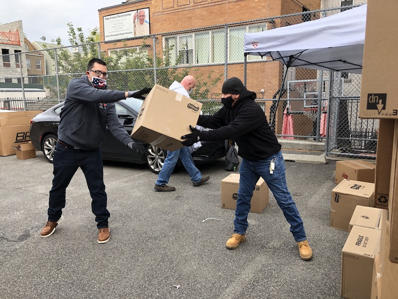 NYC Carpenters Put 1,000 Bags of Groceries into the Hands of Families Struggling During the COVID-19 Pandemic