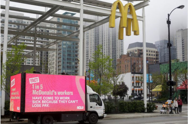 McDonald's Workers Strike in 20 Cities Around the Nation