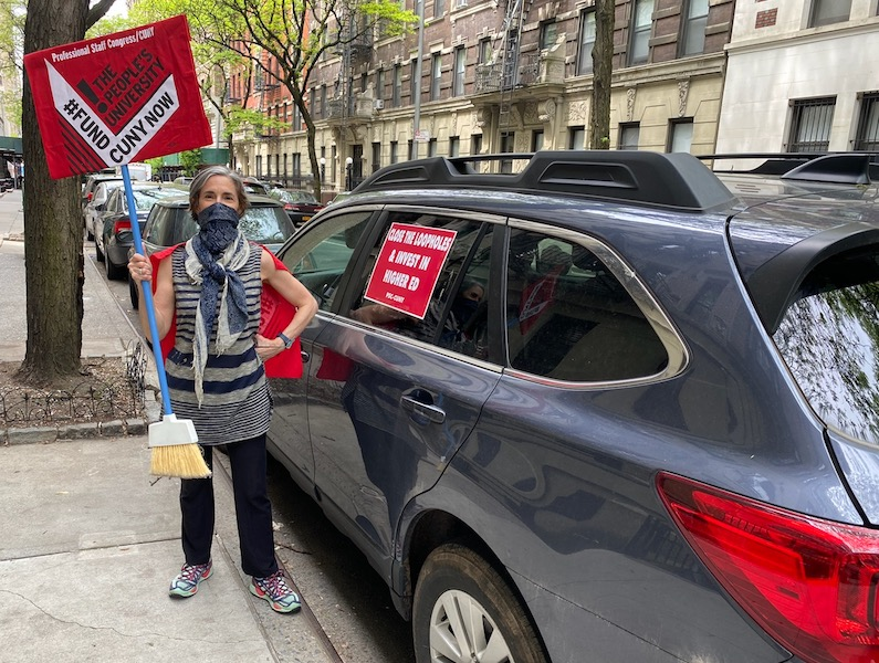 Union Representing CUNY Adjuncts Hits the Streets to Protest Mass layoffs, More Austerity Measures for Students and Staff