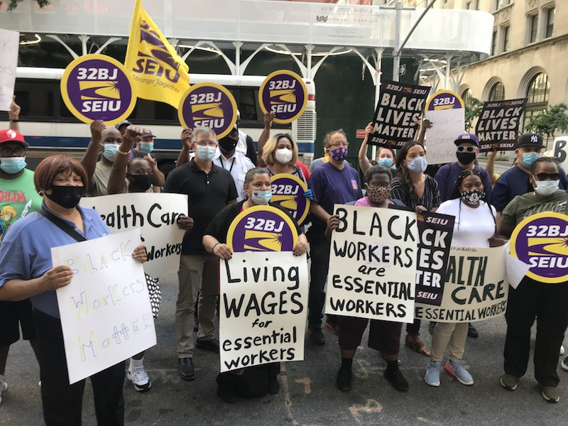 32BJ Rallies Behind NYC Security Officers Suffering Under Unequal 'Caste System'