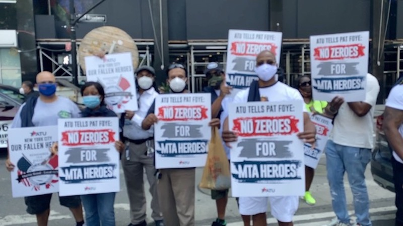 No Zeros for Heroes: MTA Contract Stance is a Slap in the Face to ATU Workers on the Front Lines of the COVID-19 Pandemic