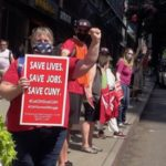 CUNY Union Forms Human Chain to Shield Adjuncts From Mass Layoffs