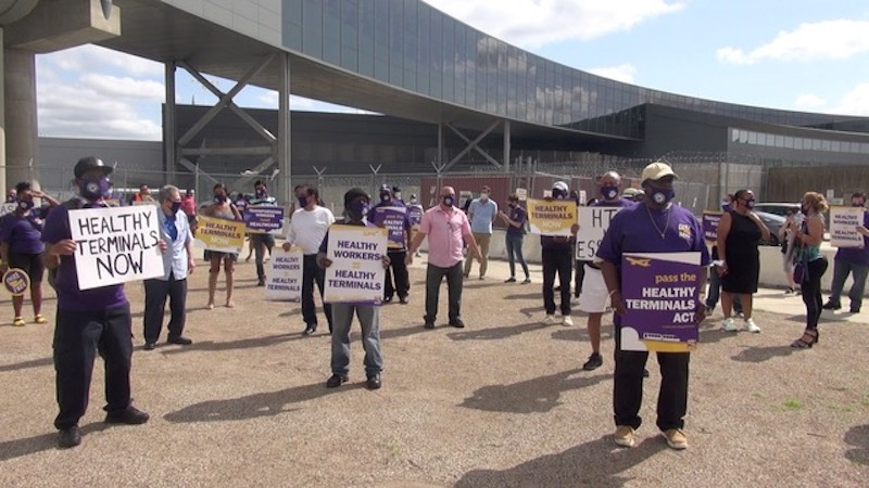 COVID-19 Deaths Loom Over Airport Workers' Ongoing Fight for Healthy Terminals Act