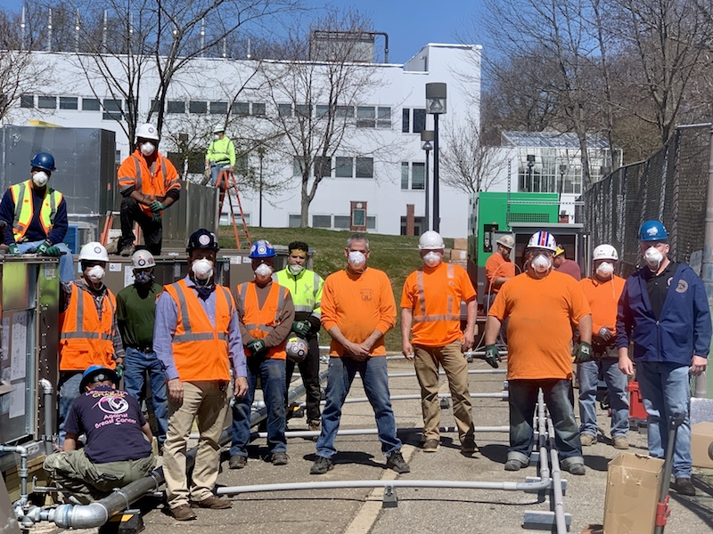 Local 28 Sheet Metal Workers Answer NYS' Emergency Call for New Hospitals – Stat!