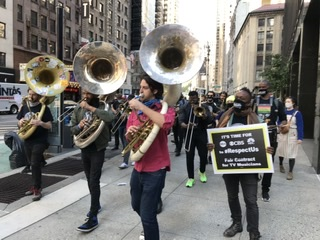 Union Musicians Rally for Respect and Residuals